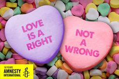 Love doesn't discriminate! Marriage equality now: http://www.amnestyusa.org/our-work/issues/lgbt-rights/marriage-equality
