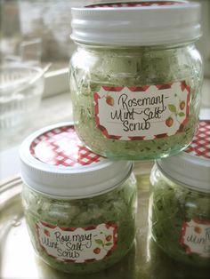 Penelope's Rosemary-mint sugar & salt scrub