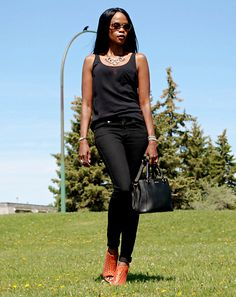 Chunky heels up on the blog today stylemydreams.com #chunkyheels #sandals #summerfashion #shoetrends2015 #denim #blackdenim #fashion #fashionblogger #ootd #outfits