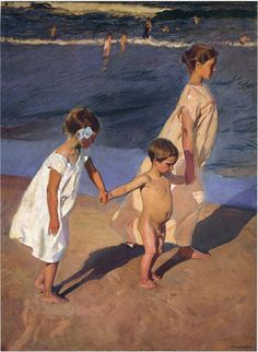Cheap paintings of beach, Buy Quality beach painting directly from China painting flowers and plants Suppliers: Beaches paintings To the Water Valencia by Joaquin Sorolla y Bastida artwork High quality Hand painted Valencia, Spanish Painters, Spanish Artists, Paintings I Love, Beautiful Paintings, Art Paintings, Claude Monet, Art Database, Figure Painting