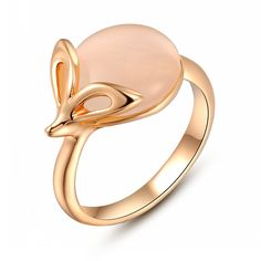Angelady 18K Platinum/Rose Gold Plated Mouse Opal Ring Lovely Elegant Fashion Jewelry -- Click on the image for additional details.