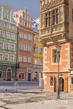 Wroclaw, Poland, Old Town Hall, Main Market Square by Juli Scalzi on City Aesthetic, Travel Aesthetic, Best Places To Travel, Places To Visit, Places Around The World, Around The Worlds, Poland Travel, Colourful Buildings, Architecture
