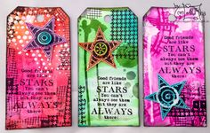 Carabelle Tags Koopsen Star + Dylusion Ink