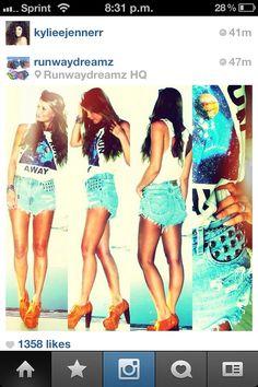 runway shorts