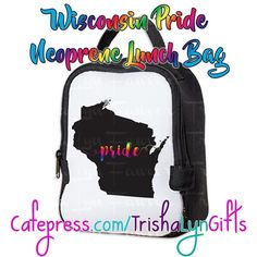 From my State Pride Collection: this Wisconsin Pride Neoprene Lunch Bag is available now in my Cafepress store! This same design is available on clothing drink ware home goods jewelry and more! http://ift.tt/2flyUEh  #statepride #pride #lgbtqpride #gaypride #advocate #proudadvocate #usa #maps #rainbow #shopsmall #lunchbag #Wisconsin #WisconsinPride #PrideWisconsin #pridegifts #pridedesign #prideaccessories #LGBTQI #LGBTQ #LGBT #buzzfeedlgbt #queerpride
