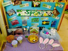 Easter/Spring interest table #eyfs #nursery