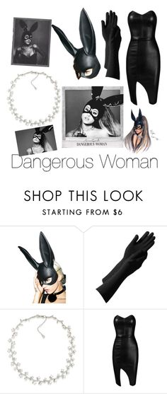 """""""Dangerous Woman-Ariana Grande Inspired"""" by nmekonnen28 on Polyvore featuring Leg Avenue, Carolee and Posh Girl"""