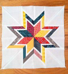Super cute star quilt block