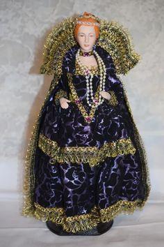 Wonderful Artist Doll Queen Elizabeth I Queen of England Portrait : Oldeclectics | Ruby Lane She Is Gorgeous, Queen Of England, Ruby Lane, Vintage Dolls, Queen Elizabeth, Doll Clothes, How Are You Feeling, Portrait, Artist