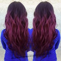 Love this color! #purpleredhair #loveombre #lovecolormelt #ineedthis