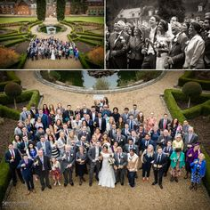 Real wedding in the gardens of Surrey venue Wotton House