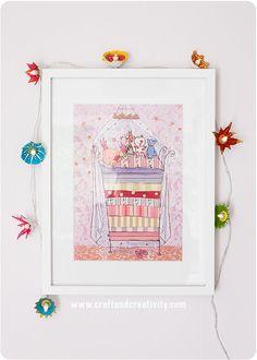 Ljusslinga av äggkartong -<br><i>Egg carton flower lights</i> Diy Crafts For Kids, Home Crafts, Crafts To Make, Modern Nursery Decor, Nursery Design, Playroom Design, Living Room Decor On A Budget, Egg Carton Crafts, Flower Lights