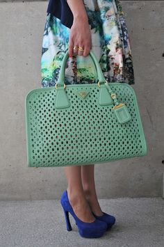 Prada Purse - love the color. On my #IWantThisNowList #vevelicious #Prada