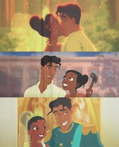 Tiana and Prince Naveen I just love their development and how they grew to love and compliment each other
