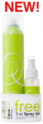 The Limited Edition High Definition Duo is recommended for s'wavy and wavy curl types or curls that need additional wave and curl definition. It includes a FREE 3 oz DevaCurl Spray Gel and to finish, a full size 10 oz DevaCurl Flexible-Hold Hair Spray to leave curls defined, soft and touchable.