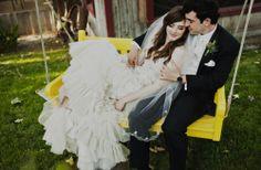 Candace & Asher   Super-stylish 'shabby chic' Jewish wedding, Rancho Las Lomas, USA