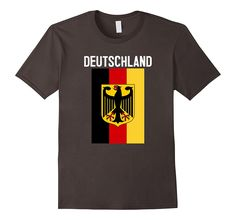 Amazon.com: Deutschland German Flag German Coat of Arms T-Sirt: Clothing