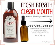 Thieves Mouthwash is amazing on it's own - but did you know you can use it to make your own Oral Spray? It's incredibly easy!