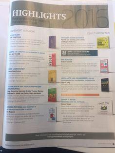 Super, het boek 'RESET!' van Erik Jan Koedijk staat op de highlights pagina van het nieuwe Managementboek Magazine. De belangrijkste boeken volgens Managementboek van 2016! #reset #erikjankoedijk #mgtboeknl #futurouitgevers