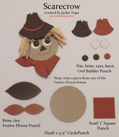 Festive Flower Scarecrow cheat sheet