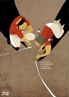 """Due righe"" Digital illustration 2012 Riccardo Guasco"