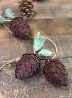 Michaels Maker Lia Griffith | DIY Felt Pine Cones