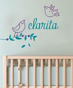Vinilo decorativo pajaritos dormitorio nena