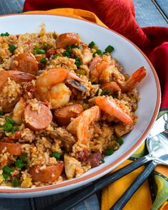 Jambalaya is a fun one pot meal with a lot going on. Although the ingredient list can be long, the cooking time is only 5 minutes of pressure cooking. New Pressure Cooker, Instant Pot Pressure Cooker, Pressure Cooker Recipes, Pressure Cooking, Jambalaya, Risotto, Blue Jean Chef, Haitian Food Recipes, Louisiana Recipes