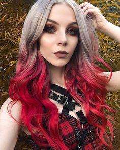 Lunar Tides Silver Lining + Cranbaby - Fuchsia Pink hair - Hair Color Hair Dye Colors, Ombre Hair Color, Hair Color Balayage, Red Ombre, Rainbow Hair Colors, Hair Colors For Blondes, Edgy Hair Colors, Bright Hair Colors, Different Hair Colors
