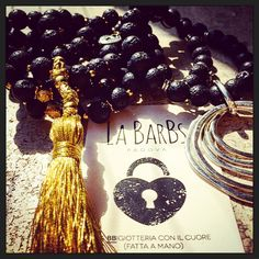 La BarBs Pietra Lavica!  #labarbs #padova #BBigiotteria #bigiotteria #fattoamano #handmade #instafashion #instapadova