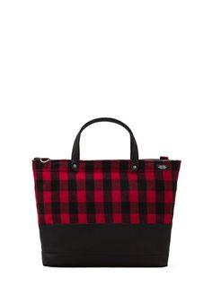 0c7f062a7e33 Shop for Jack Spade Buffalo Check Zip Coal Bag in Black   Red   Black at  REVOLVE.