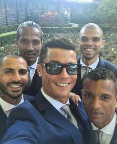 Cristiano, Pepe y conpañeros de la Selección de Portugal