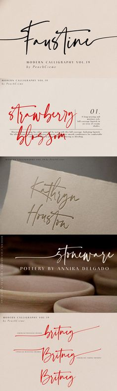 AD: Faustine //Modern Script by PeachCreme on design Font Design, Web Design, Graphic Design, Design Art, Blog Design, Type Design, Handwritten Fonts, Typography Fonts, Hand Lettering