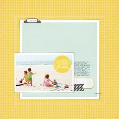 digital scrapbooking page by Plucky Momo