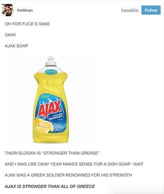 Ajax, I never would have thought...