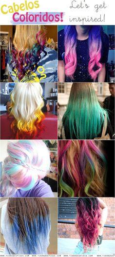 cabelos coloridos hair chalk inspiration