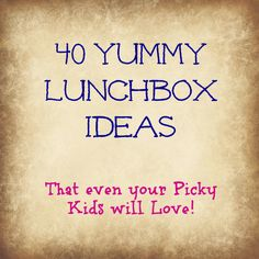 Awesome! I can NEVER think of things to pack in my lunch and sandwiches get old really fast.