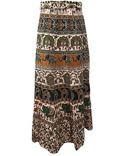 Mogul Wrap Skirts / Wrap Around Skirt Apricot Green Print Casual Wear Mogul Interior http://www.amazon.com/dp/B00RL5CIRK/ref=cm_sw_r_pi_dp_NwOOub1SPGQCC