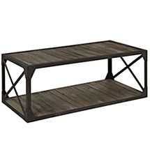 Add a touch of industrial modern design to your living space with the Modway Basic Stand . A generous top and lower shelf of pine planks come in a thoroughly. Coffee Table Metal Frame, Industrial Style Coffee Table, Reclaimed Wood Coffee Table, Black Coffee Tables, Modern Coffee Tables, Modern Industrial, Industrial Furniture, Industrial Farmhouse, White Coffee