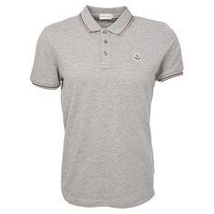 Moncler Poloshirt mit Tricolorekragen in Grau Moncler, Polo Ralph Lauren, Shirts, Mens Tops, Fashion, Grey, Moda, Fashion Styles, Dress Shirts