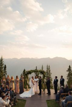 This Elegant Aspen Wedding at The Little Nell Has the Most Breathtaking Backdrop Junebug Weddings is part of Aspen wedding - A magnificent backdrop, relaxed vibe, and sophisticated style come together in this wedding at The Little Nell in Aspen, Colorado Wedding Goals, Wedding Events, Dream Wedding, Wedding Ideas, Luxury Wedding, Wedding Details, Wedding Planning, Colorado Wedding Venues, Outdoor Wedding Venues
