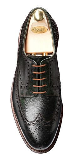 Pembroke Dark Green, Full Brogue Derby | Crockett & Jones