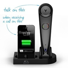 Amazon.com: Good Call iG1 Bluetooth Wireless Handset and iPhone Docking Station, Black (works with iPhone 3, 3S, 4, 4S, 5): Cell Phones & Accessories