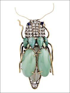 Iradj Moini Broche semi précieux et cristaux