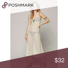FP intimately lace la la romper Perfect for lounging around the house or as a cover up at the beach. In excellent condition. Used gently. No flaws. Free People Pants Jumpsuits & Rompers