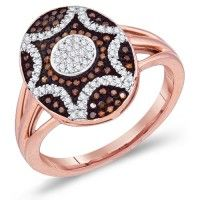 Chocolate Diamond Brown Oval Ring Fashion Band 10k Rose Gold (0.33 ct.tw).    http://www.jeweltie.com/chocolate-diamond-brown-oval-ring-fashion-band-10k-rose-gold-0-33-ct-tw.html  $1,306.00