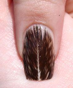Nail art. Feather Nail Designs, Feather Nail Art, Cool Nail Designs, Pedicure Nails, Manicure, Nail Pictures, Nail Candy, Creative Nails, Love Nails