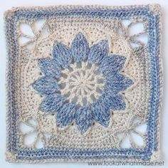 This is the photo tutorial for part 1 (of 3) of the pattern for Charlotte. Charlotte is a large crochet square with a delicate vintage feel. The large central overlay flower is framed by a delicate la ༺✿Teresa Restegui http://www.pinterest.com/teretegui/✿༻