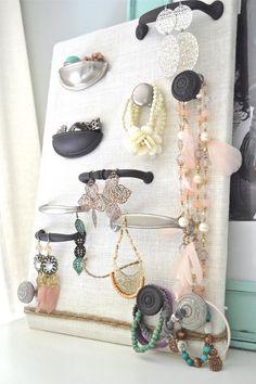 cabinet hardware jewelry storage display