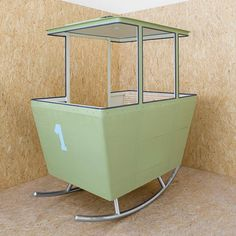garden rocking chair...who can get their hands on an old cable car?  ha-ha
